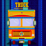 Indian Truck representing colorful India Royalty Free Stock Photography
