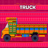 Indian Truck representing colorful India. Easy to edit vector illustration of Indian Truck representing colorful India Stock Image