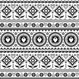 Indian trucks art seamless vector pattern, Pakistani monochrome truck floral design with lotus flower, leaves and abstract shapes Stock Photos