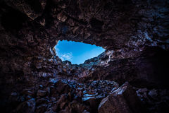 Indian Tunnel Lava Tubes Cave Stock Photo