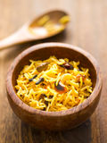 Indian turmeric rice Stock Photography