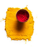 Indian turmeric and roli Royalty Free Stock Photos