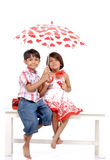 Indian twin brother and sister Royalty Free Stock Photos