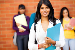 Indian university student Royalty Free Stock Image