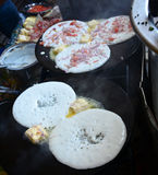 Indian Uttapam. Uttapam/Dosa is special food made of rice and lentils in south india Stock Image