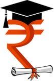 Indian value graduation. Illustration art of a Indian value graduation with isolated background Stock Images