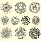 Indian vector and decorative set of mandala stock illustration