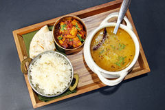 An Indian veetarian meal. Royalty Free Stock Image