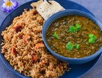 Sindhi vegetarian meals royalty free stock photo