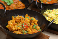 Indian Vegetable Curry. Indian Gobi Aloo curry with cauliflower and potato Stock Photo