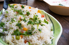 Indian vegetable pulao dish with rice and vegetables Stock Photos