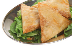 Indian Vegetable Samosas Stock Image
