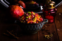 Indian Vegetarian Biryani with spices Royalty Free Stock Photo