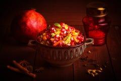 Indian Vegetarian Biryani with spices Stock Photo