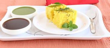 Indian Vegetarian Food Dhokla Royalty Free Stock Image