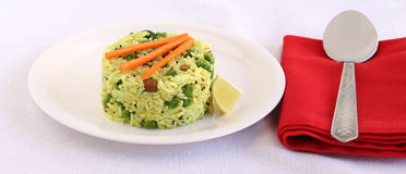 Indian Vegetarian Food Lemon Rice Royalty Free Stock Photos