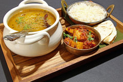 An Indian vegetarian meal. Stock Photos