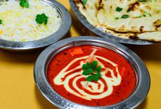 Indian vegetarian meal Royalty Free Stock Photos