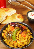 Indian Dhal with Naan Bread Royalty Free Stock Image