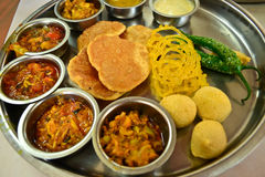 Indian Vegetarian meal Royalty Free Stock Images