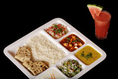 Indian vegetarian thali. Royalty Free Stock Photos