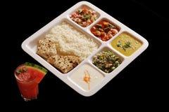Indian vegetarian thali. Royalty Free Stock Photo