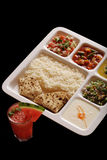 Indian vegetarian thali. Royalty Free Stock Photography