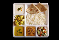Indian vegetarian thali. Royalty Free Stock Images