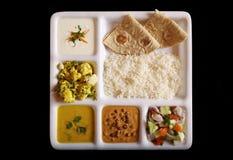 Indian vegetarian thali. Royalty Free Stock Images