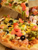 Indian Vegeterian Pizza Royalty Free Stock Photos