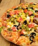 Indian Vegeterian Pizza Stock Photos