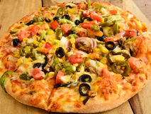 Indian Vegeterian Pizza Stock Photography