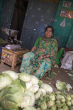 Indian Vendor at Market in Mysore India Royalty Free Stock Images