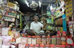 Indian vendor at the New Market, Kolkata, India Royalty Free Stock Photos