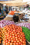 Indian vendors and customers in the Devaraja vegetable market Stock Photography