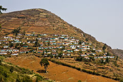 Indian Village. In near Ooty in Tamil Nadu stock photography