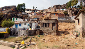 Indian village. Rural villages close to Mt Abu (India Royalty Free Stock Photos
