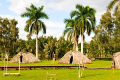 Indian village. In Guama, Cuba royalty free stock photos