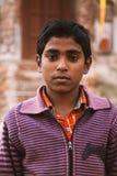 Indian village boy looking at camera. Stock Photo