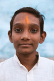 Indian village boy smiling and looking at camera. Stock Image