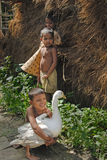 INDIAN VILLAGE CHILDREN Stock Photos