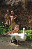 INDIAN VILLAGE CHILDREN Stock Photo