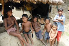 INDIAN VILLAGE CHILDREN Royalty Free Stock Photography