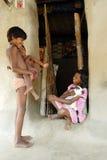 INDIAN VILLAGE GIRL. Royalty Free Stock Photos