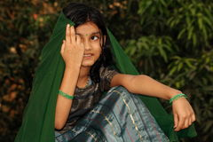 An Indian village girl  Stock Photos