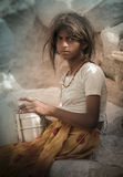 Indian Village Girl Royalty Free Stock Photos