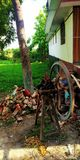 Indian village grass cutter machine picture royalty free stock photos