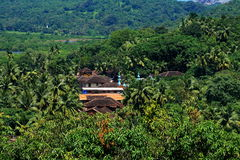 Indian village in jungle Royalty Free Stock Photos