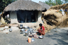 Indian Village life Stock Images