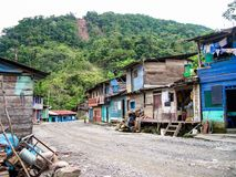 Indian village in peru. With jungle stock photos
